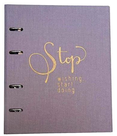 Caderno Fichário Cotton Lilás 190 folhas Ótima
