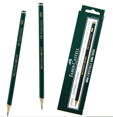 Lapis Preto Tecnico 9000 2b Preto/Muito Macio - Caixa com 12 Faber Castell, Multicor