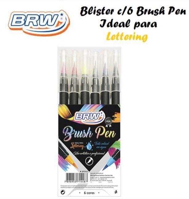 Caneta Brush Pen Tem Pastel C/6 Cores