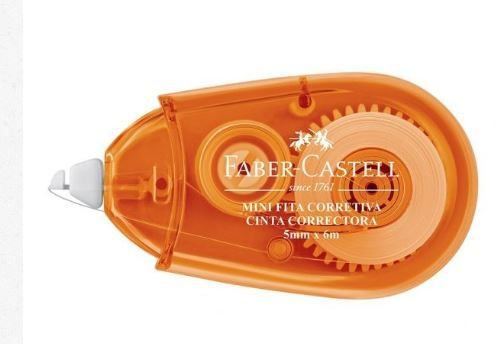 Mini Fita Corretiva 5mm x 6m Laranja Faber-Castell