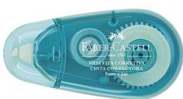 Mini Fita Corretiva 5mm x 6m Azul Faber-Castell