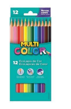 Lápis de Cor MultiColor Hexagonal 12 Cores