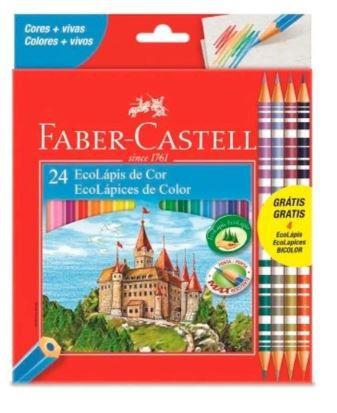 Lápis Cor 24 Cores Faber-castell E 4 Lapis Bicolor
