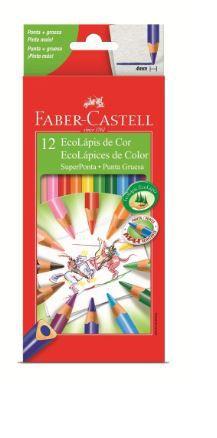 Lápis De Cor Faber Castell Super Ponta 012 Cores