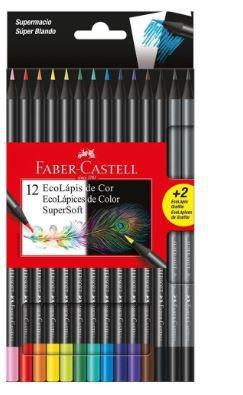 Lapis De Cor 12 Cores Supersoft Faber-castell  soft+2