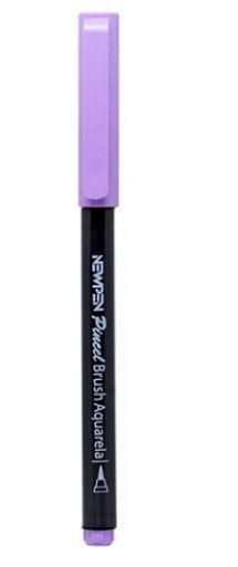 Caneta Pincel Brush Pen Pastel Roxo Lavanda Newpen