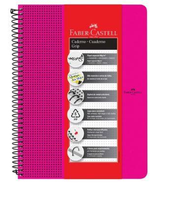 Caderno Grip 90 g/m² A-4+ Pautada Rosa com 80 folhas Faber-Castell