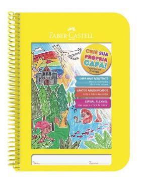 Caderno Criativo Capa Amarela-Faber Castell