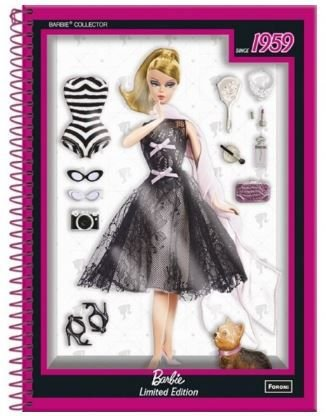 Caderno Universitário 10x1 200 fls C.D. Foroni - Barbie Jovem