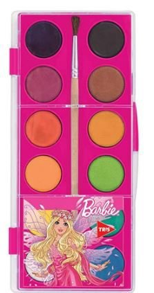 Aquarela Barbie, Mattel,  pacote de 12 cores