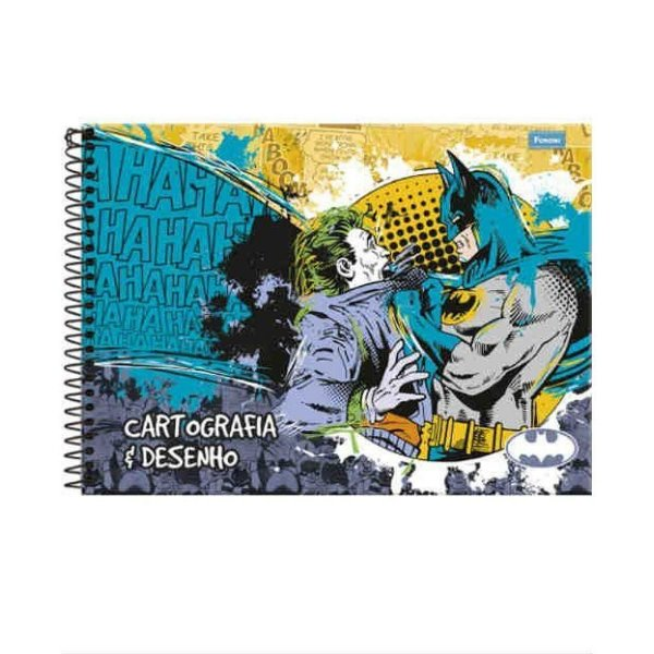 Caderno Cartografia C/D 96 Folhas Batman Foroni