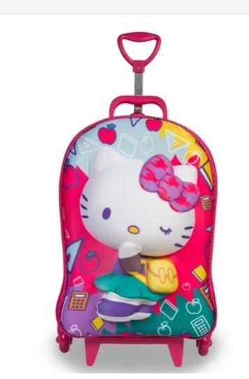 Kit Mochila 3d Diplomata Hello Kitty C/ Lancheira