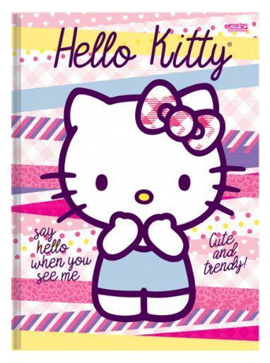 Caderno Brochurão Capa Dura Costurado 48 Fls 200x275 Hello Kitty