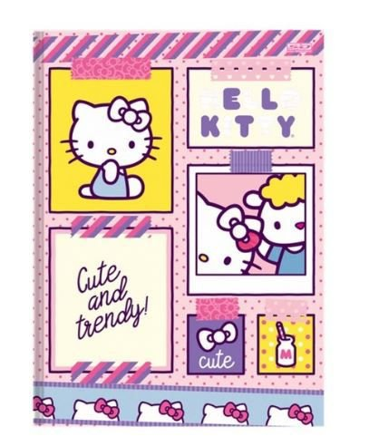 Caderno Brochura Capa Dura Hello Kitty 48 Fls