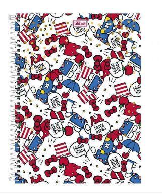 Caderno Espiral Univ. Capa Dura 10 Matérias 200 Fls Hello Kitty