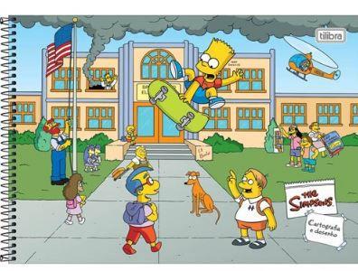Caderno Cartografia e Desenho Capa Dura 80 FL Simpsons