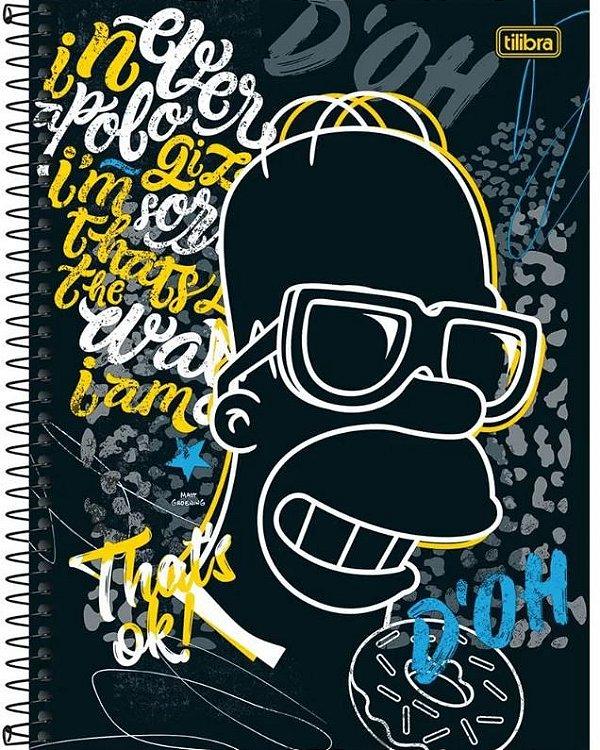 Caderno Univ 1x1 80f Simpsons Tilibra