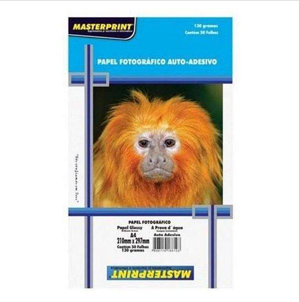 Pacote Papel Foto Auto Adesivo MasterPrint 130 g