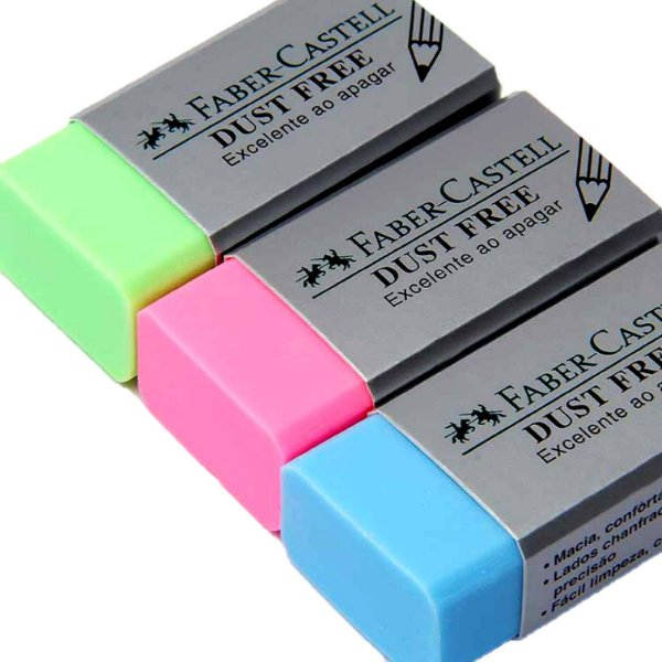 Borracha Dust Free Liso Sortido - Faber Castell