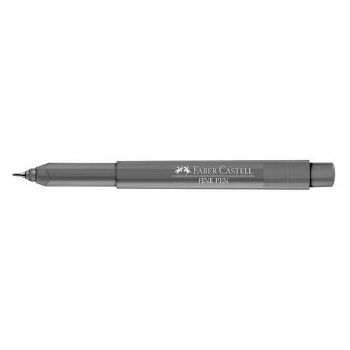 Caneta Fine Pen 0,4 Cinza - Faber Castell