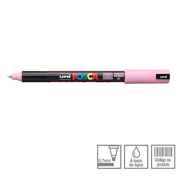 Caneta Pin Type 0,7mm Posca Rosa Claro - Uni