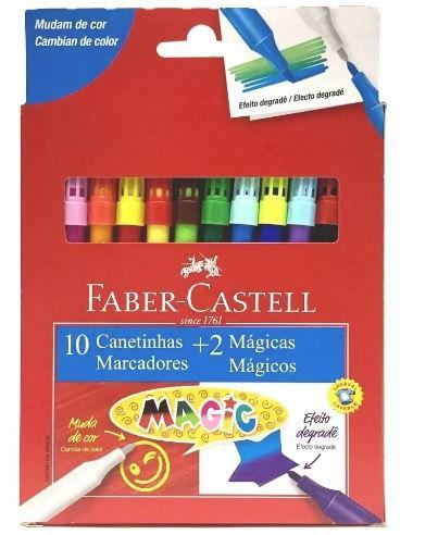 Canetinha C/10 Cores + 2 Magic - Faber Castell