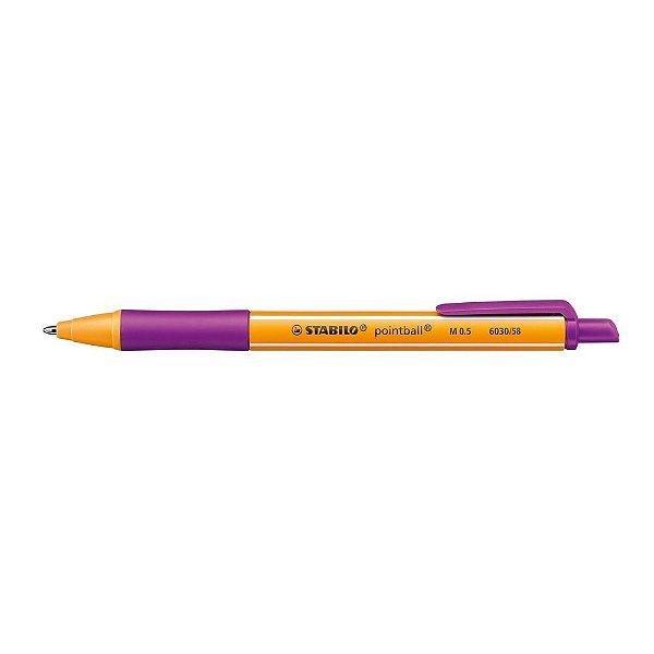 Caneta Esf 0,5mm Pointball Violeta - Stabilo