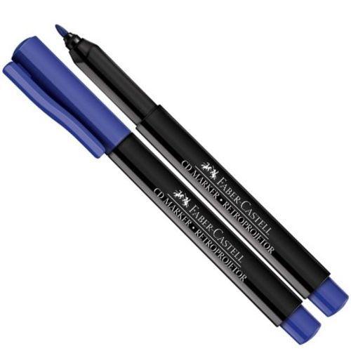 Caneta Retroprojetor 1,0mm Azul - Faber Castell