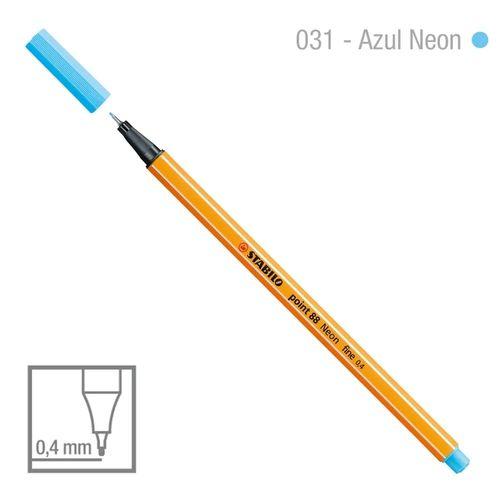 Caneta Point 88/031 0,4mm Neon Azul - Stabilo