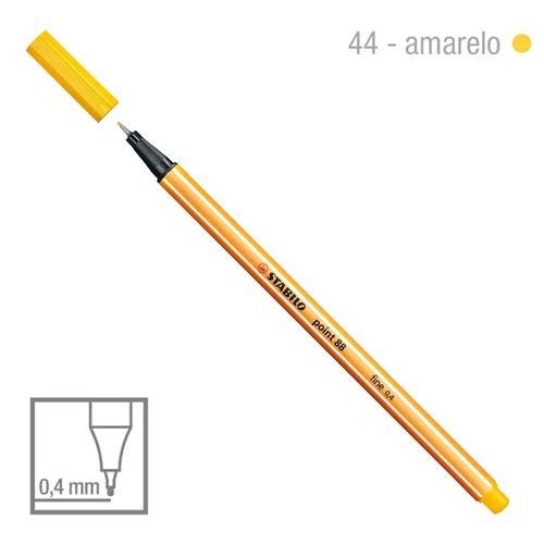 Caneta Point 88/44 0,4mm Amarelo Ouro - Stabilo