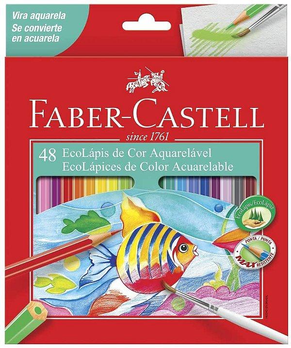 Ecolapis Cor C/48 Aquarelavel - Faber Castell