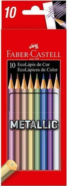 Ecolapis Cor C/10 Cores Metalic - Faber Castell