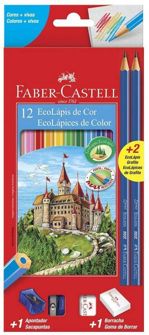 Ecolapis Cor C/12 Em Kit Escolar - Faber Castell