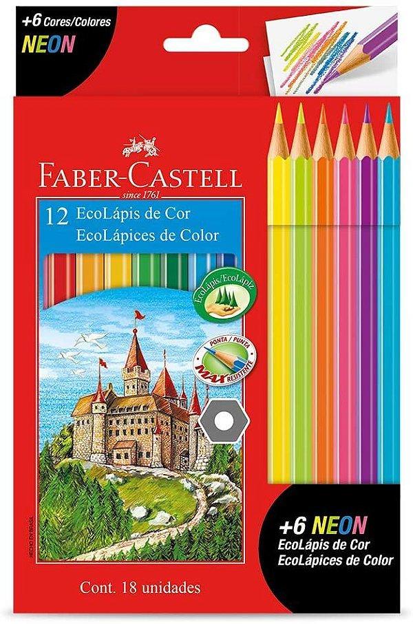 Ecolapis Cor C/12 Cores + 6 Neon - Faber Castell