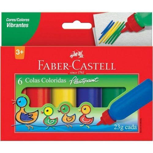 Cola 23g C/6 Colorida Sortidas - Faber Castell