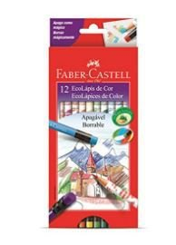 Ecolapis Cor C/12 Cores Apagavel - Faber Castell