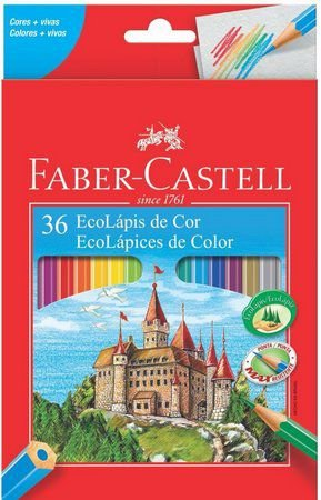 Ecolapis Cor C/36 Cores Lvm - Faber Castell