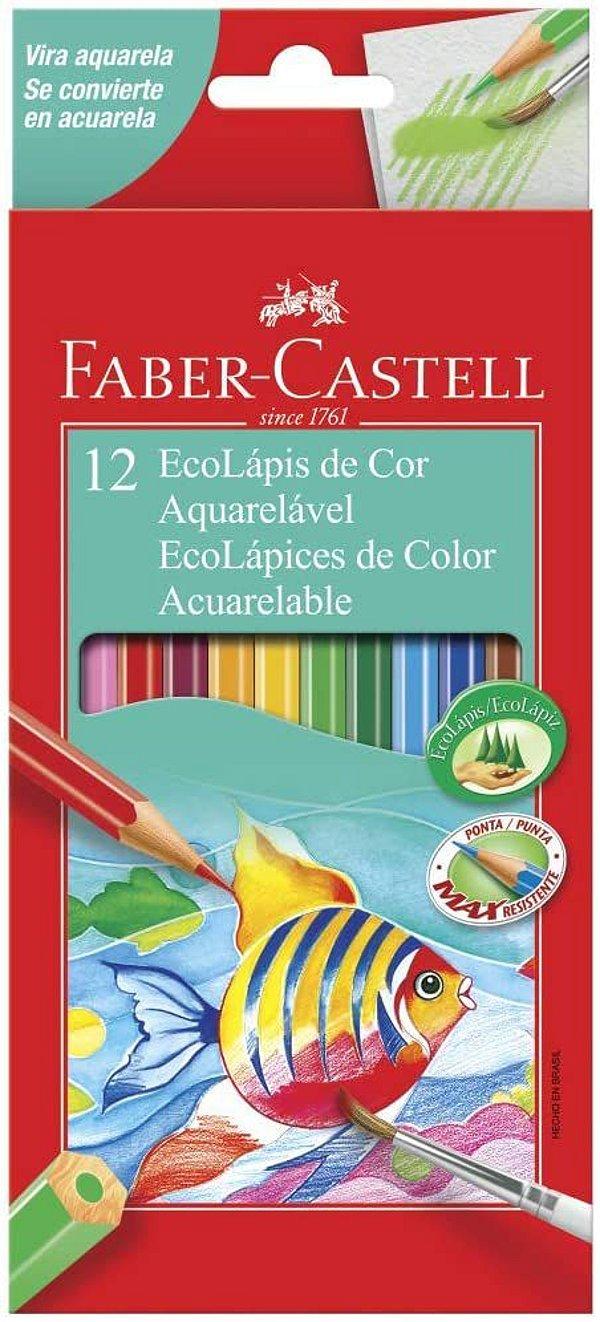 Ecolapis Cor C/12 Cores Aquarelavel -faber Castell
