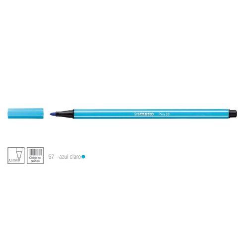 Caneta Point 68/57 1,0mm Azul Claro - Stabilo