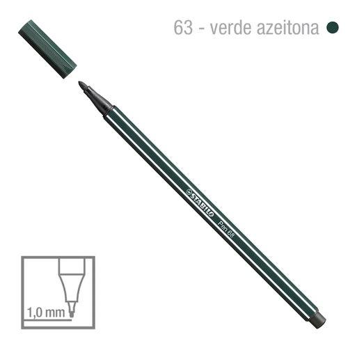 Caneta Point 68/63 1,0mm Verde Azeitona - Stabilo