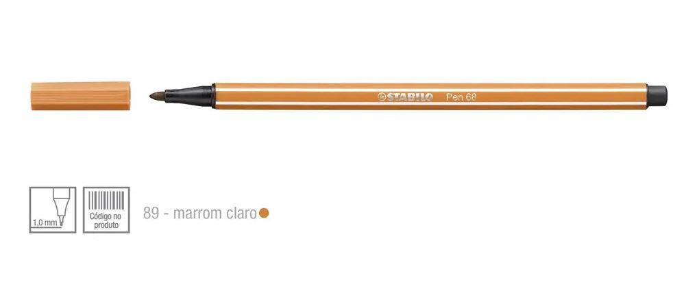 Caneta Point 68/89 1,0mm Marrom Claro - Stabilo