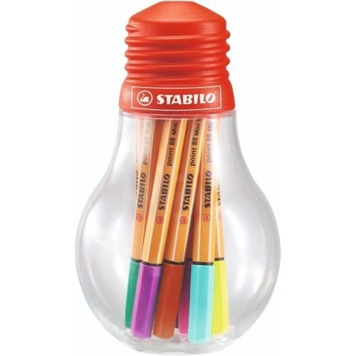 Mini C/12 Canetas Point Colorful Ideas - Stabilo
