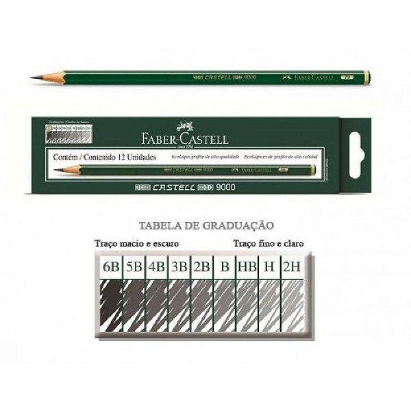 Lapis Grafite Castell 9000 3b C/12 - Faber Castell
