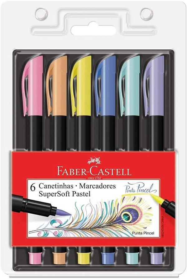 Estojo C/6 Supersoft Brush Pastel - Faber