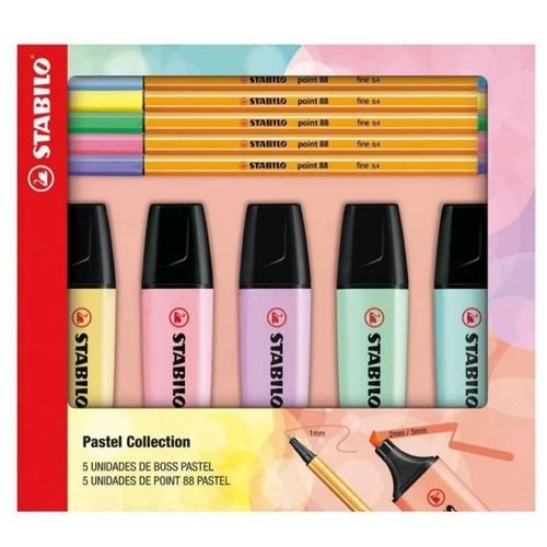 Kit Pastel Collection C/10 Boss/point - Stabilo