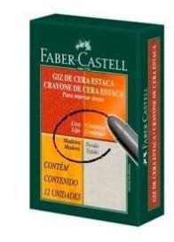 Gizao Cera C/12 Estaca Preto - Faber Castell