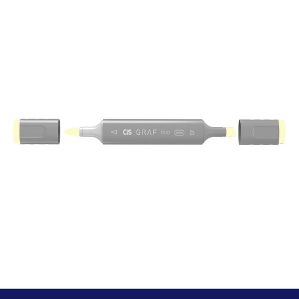 Marcador Graf Duo Brush 109 Pearl White - Cis
