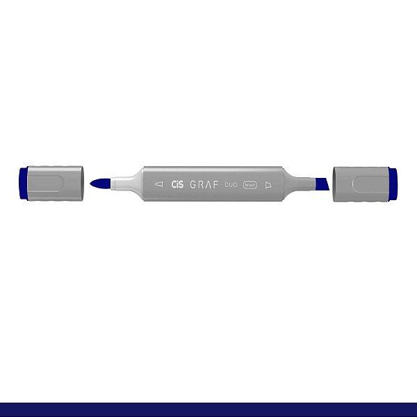 Marcador Graf Duo Brush 74 Brilliant Blue - Cis