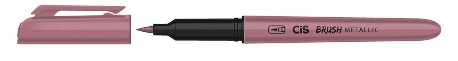 Marcador Brush Metallic Rosa - Cis