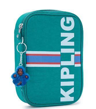 Estojo 100 Pens Pine Green Str - Kipling